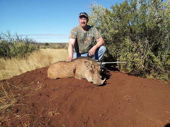 Shepherd loyal customer on safari with P3 Scope