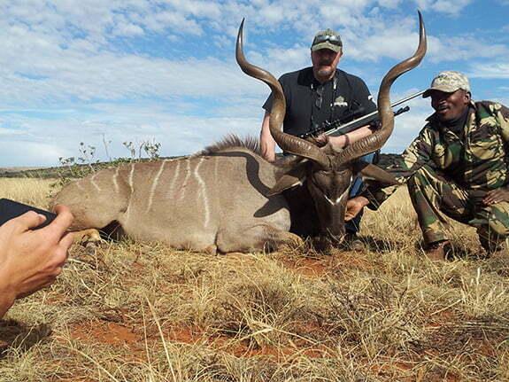 Shepherd Customer on Safari with V1A long range hunting scope