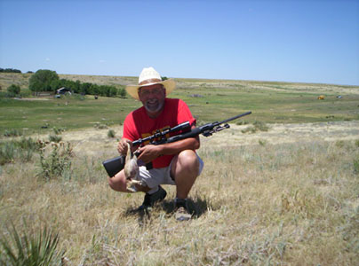 Use a Shepherd scope for targets large or small. Great for long range shots.