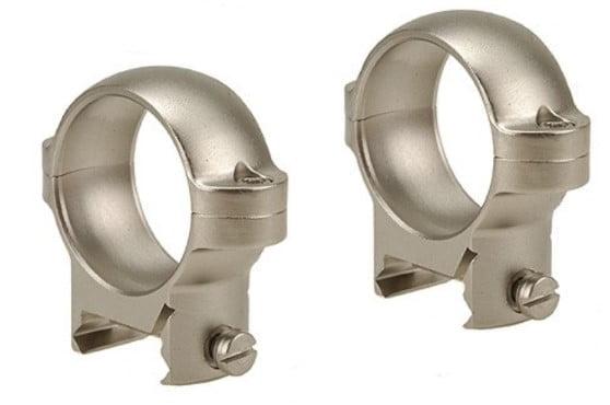 """Chrome 1"""" Zee Mount Weaver Style Burris Rings"""