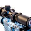 Shepherd Variable Power 6x Rifle Scope Mounted to M4 Tactical Gun