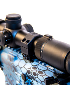 Shepherd Variable Power 6x Rifle Scope Mounted to M4 Tactical Gun